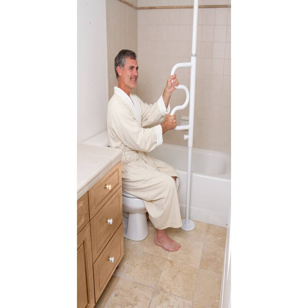 Curved Security Pole & Grab Bar