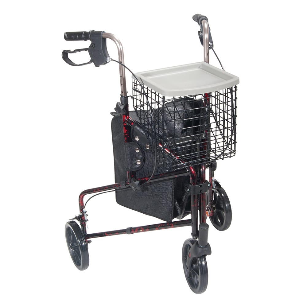 Drive 3-Wheel Walker (Red)