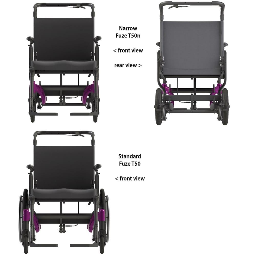 Fuze T50 Narrow – Manual Tilt Wheelchair