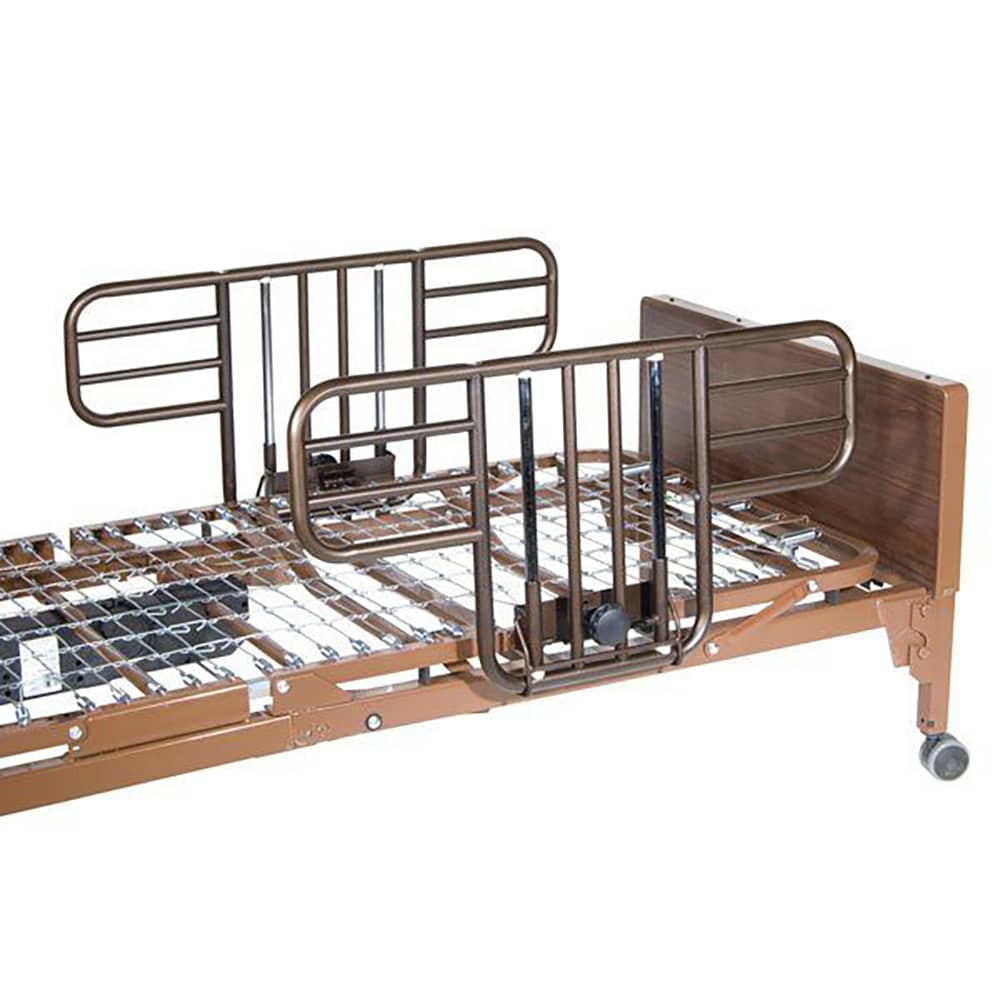 Drive Electric Hospital Bed with Half-Length Rails (No Mattress)